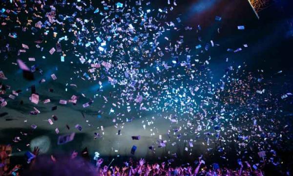 Sparkles of confetti image