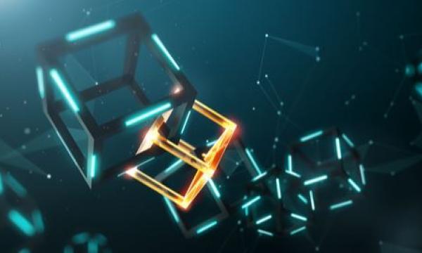 A chain of 3D blocks